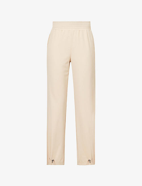 ALICE & OLIVIA: Ridley mid-rise stretch-jersey trousers