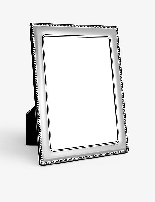 "CARRS OF SHEFFIELD: Portland mirrored sterling silver photo frame 10"" x 8"""
