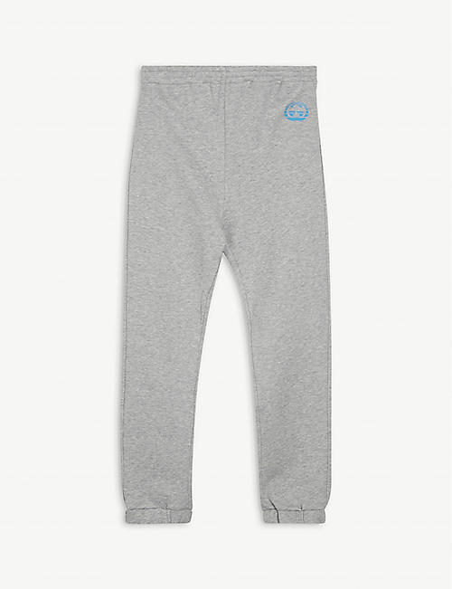 GUCCI: Logo-print cotton jogging bottoms 4-10 years