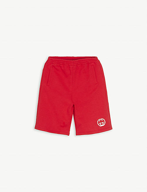 GUCCI: Logo-print cotton shorts 6-10 years