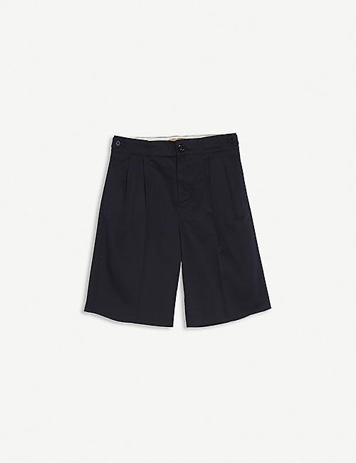 GUCCI: Cat-embroidered stretch-cotton shorts 4 years