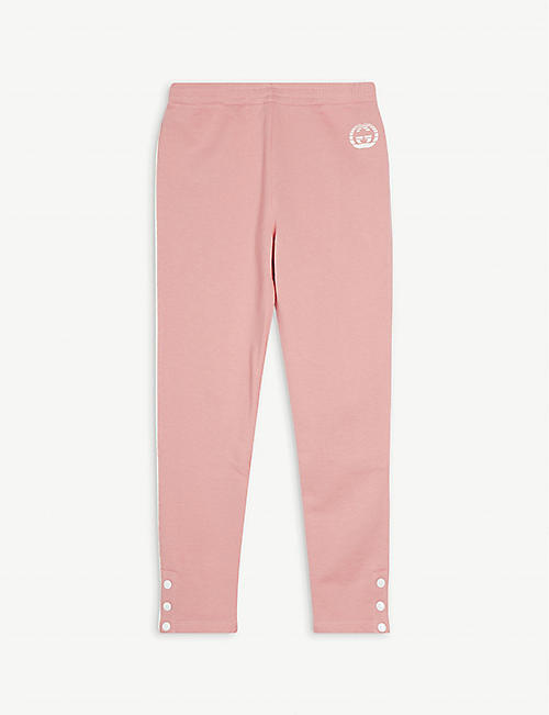 GUCCI: Logo-print cotton jogging bottoms 6-10 years