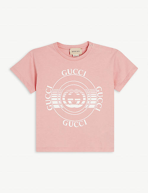 GUCCI: Logo-print cotton T-shirt 4-10 years