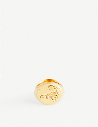 ALAN CROCETTI: Hybrid gold-plated vermeil sterling silver ring