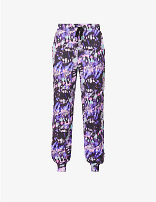OLIVIA RUBIN: Tilda tie-dye pattern tapered mid-rise cotton-jersey jogging bottoms