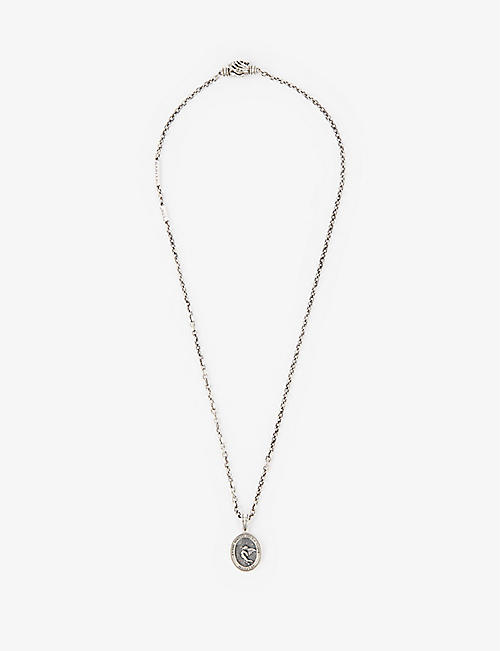 MARTYRE: Sinner sterling-silver pendant necklace
