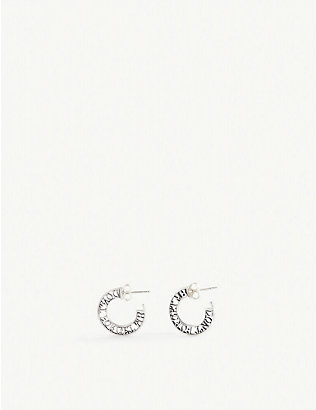 MARTYRE: Don't Forget Me sterling-silver hoop earrings