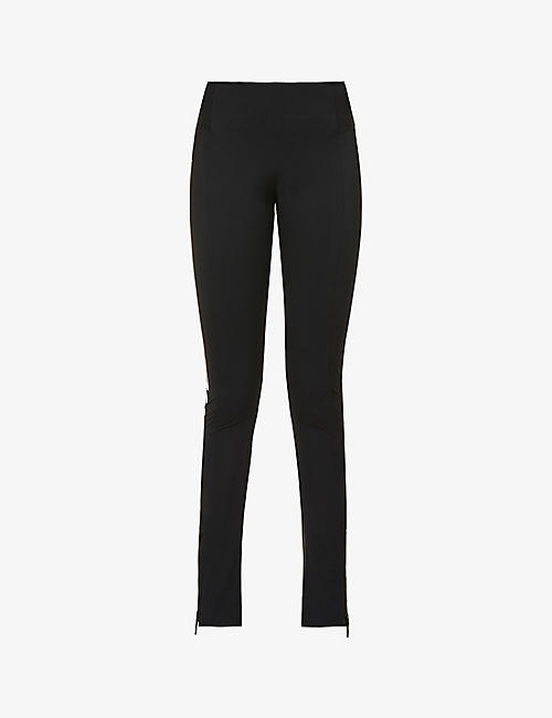 OFF-WHITE C/O VIRGIL ABLOH: Athleisure high-rise stretch-jersey leggings