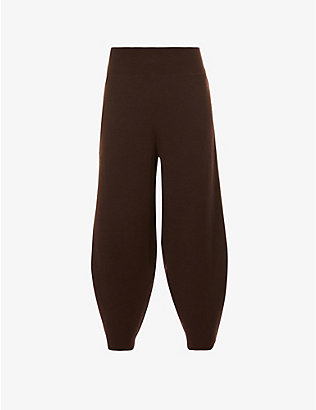 STUDIO NICHOLSON: Tapered high-rise wool, silk and cashmere-blend trousers