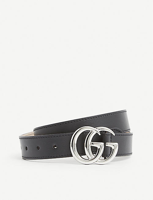 GUCCI: GG branded leather belt 2-8 years