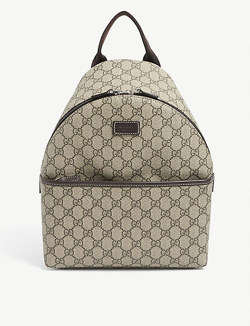 GUCCI: Kids GG Supreme coated canvas backpack