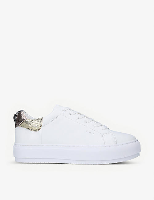 KURT GEIGER LONDON: Laney Eagle leather platform trainers