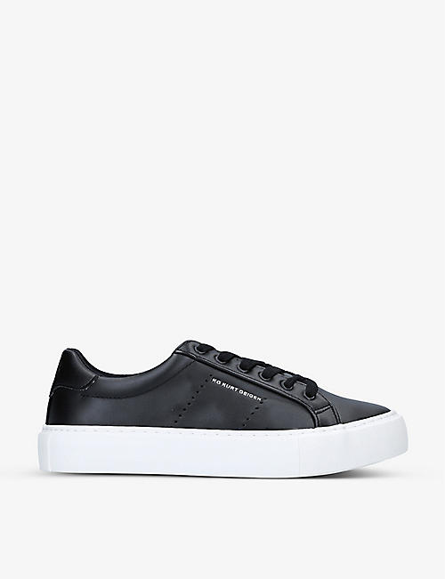 KG KURT GEIGER: Wilson low-top faux-leather trainers