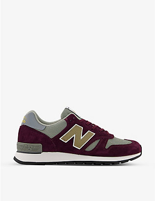 NEW BALANCE: M670 suede and mesh trainers