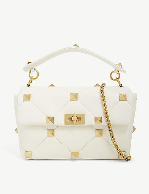 VALENTINO: Roman Stud leather shoulder bag