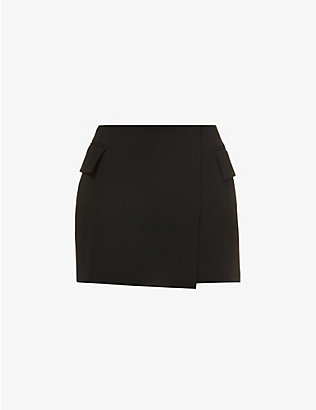 ALEX PERRY: Izzy crepe mini skirt