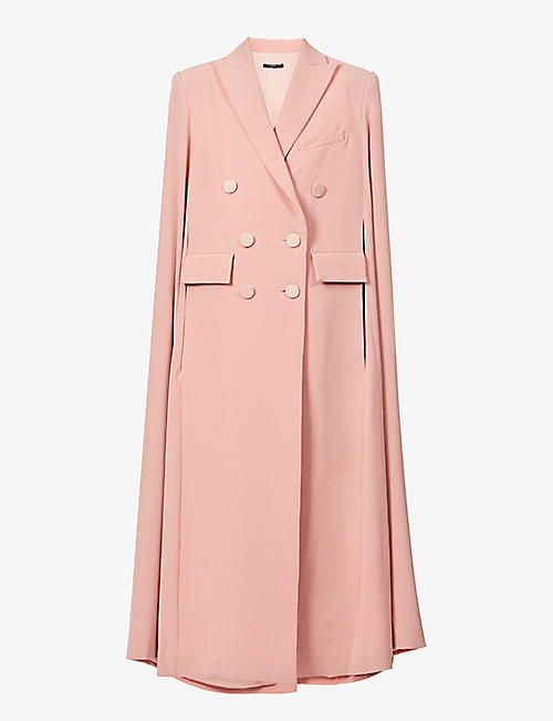 ALEX PERRY: Marden double-breasted crepe coat