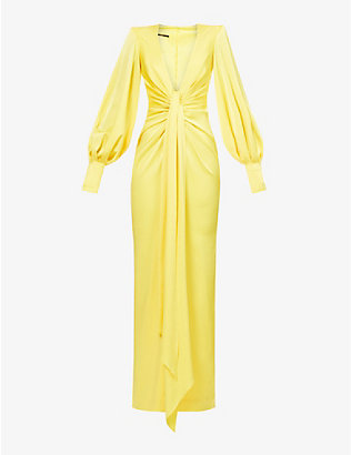 ALEX PERRY: Dane balloon-sleeve satin gown