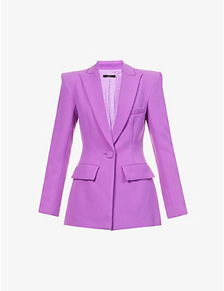 ALEX PERRY: Alex single-breasted crepe blazer