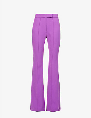 ALEX PERRY: Rene flared high-rise crepe trousers