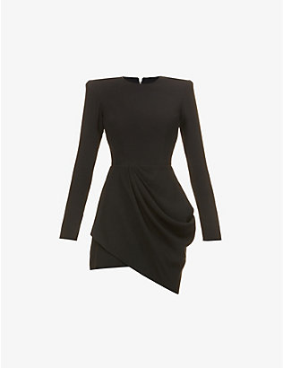 ALEX PERRY: Chester ruched crepe mini dress