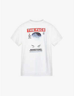 THE FACE X FRAGMENT DESIGN: Cover 01 graphic-print cotton-jersey T-shirt