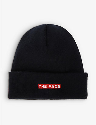 THE FACE X FRAGMENT DESIGN: The Face x Fragment branded knitted beanie