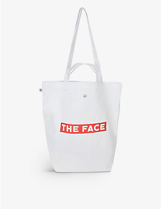 THE FACE X FRAGMENT DESIGN: The Face x Fragment branded cotton tote