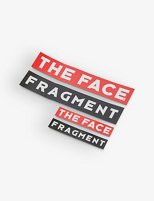 THE FACE X FRAGMENT DESIGN: The Face x Fragment pack of four stickers