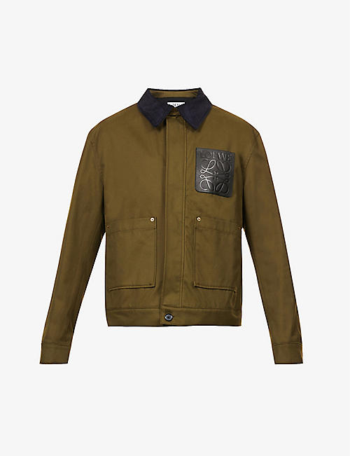 LOEWE: Cord-collar dropped-shoulder cotton jacket