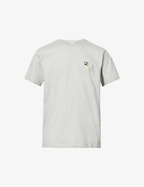 LOEWE: Anagram-embroidered cotton-jersey T-shirt