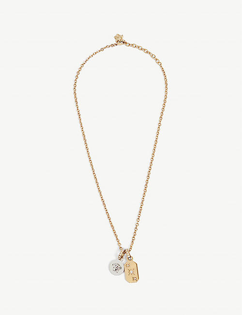 VERSACE: Medusa Head and star tag necklace