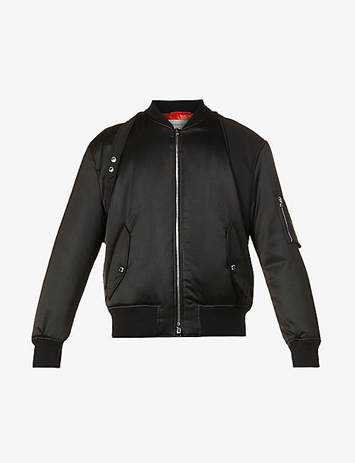 ALEXANDER MCQUEEN: Harness-detail cotton bomber jacket