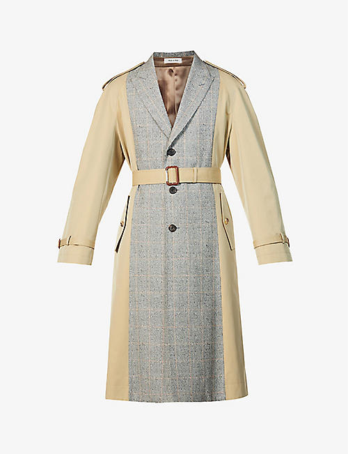 ALEXANDER MCQUEEN: Hybrid belted cotton coat