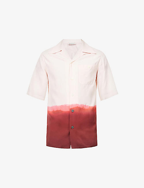 ALEXANDER MCQUEEN: Tie-dye relaxed-fit crepe shirt