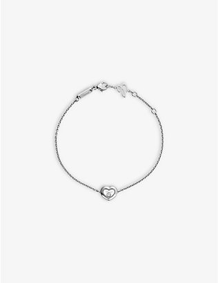 CHOPARD: Happy Diamonds Icons 18ct white-gold and 0.05ct diamond bracelet