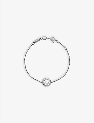 CHOPARD: Happy Diamonds Icons 18ct white-gold and 0.15ct diamond bracelet