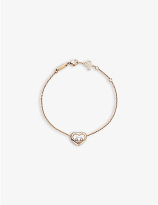 CHOPARD: Happy Diamonds Icons 18ct rose-gold and 0.15ct diamond bracelet