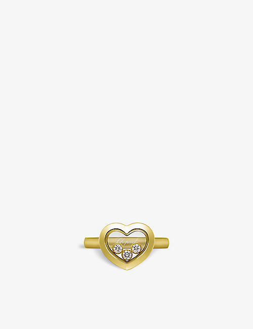 CHOPARD: Happy Diamonds Icons 18ct yellow-gold and 0.15ct diamond ring