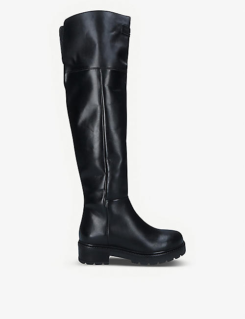 KURT GEIGER LONDON: Barber over-the-knee leather boots