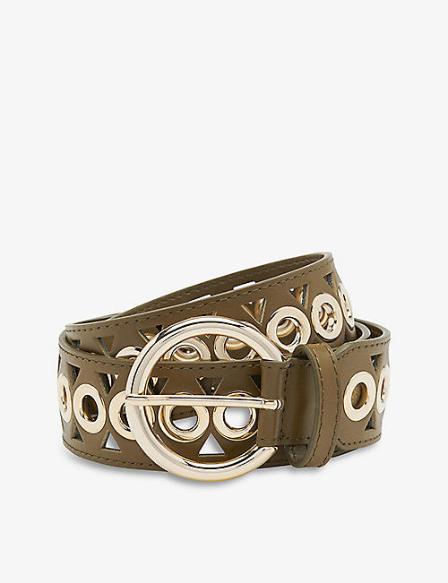 SANDRO: Adelia adjustable leather belt