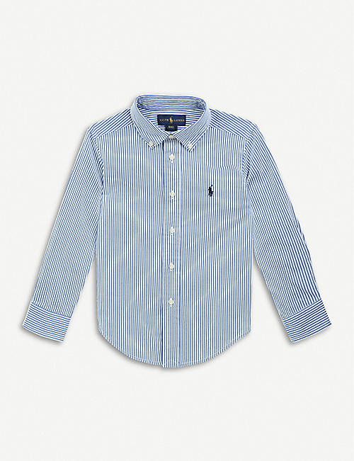 RALPH LAUREN: Blake striped cotton-poplin shirt 2-4 years
