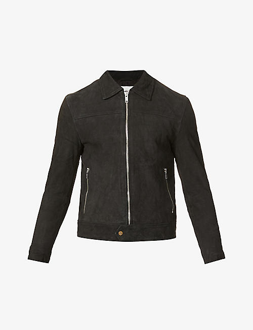 DEADWOOD: Zip-up recycled-suede jacket