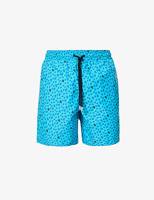 VILEBREQUIN: Micro turtle-print regular-fit swim shorts
