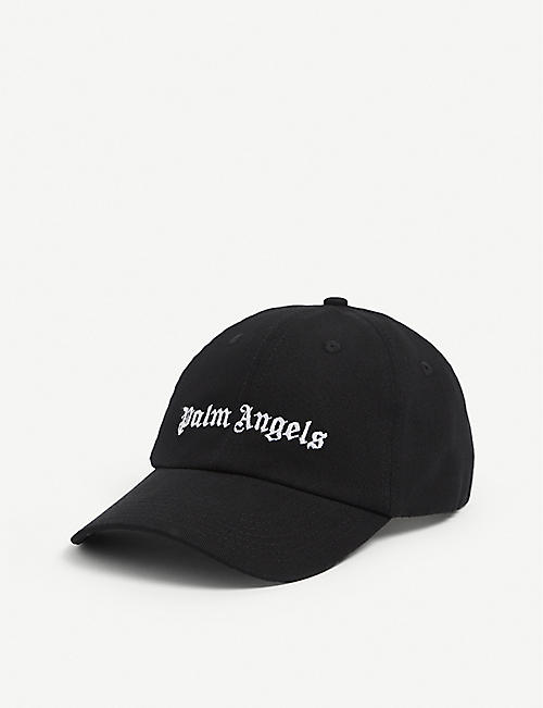 PALM ANGELS: Logo-embroidered cotton baseball cap