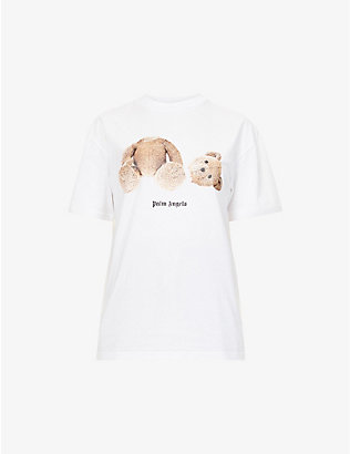 PALM ANGELS: Bear branded cotton-jersey T-shirt