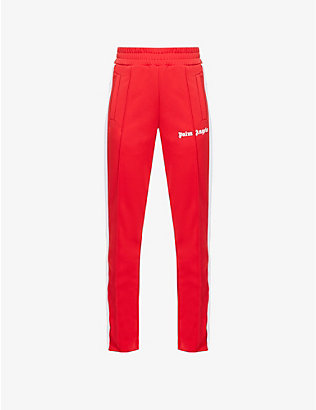 PALM ANGELS: Classic Slim logo-print woven track jogging bottoms