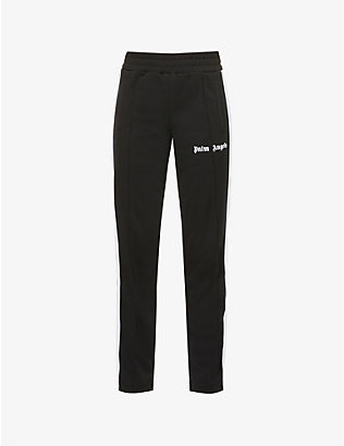 PALM ANGELS: Classic logo-print high-rise woven track jogging bottoms