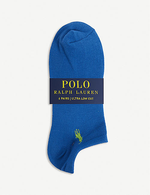 POLO RALPH LAUREN: Logo-embossed woven socks pack of six
