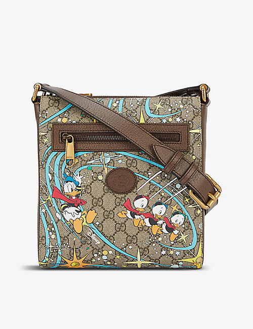 GUCCI: Gucci x Disney Donald Duck canvas and leather messenger bag